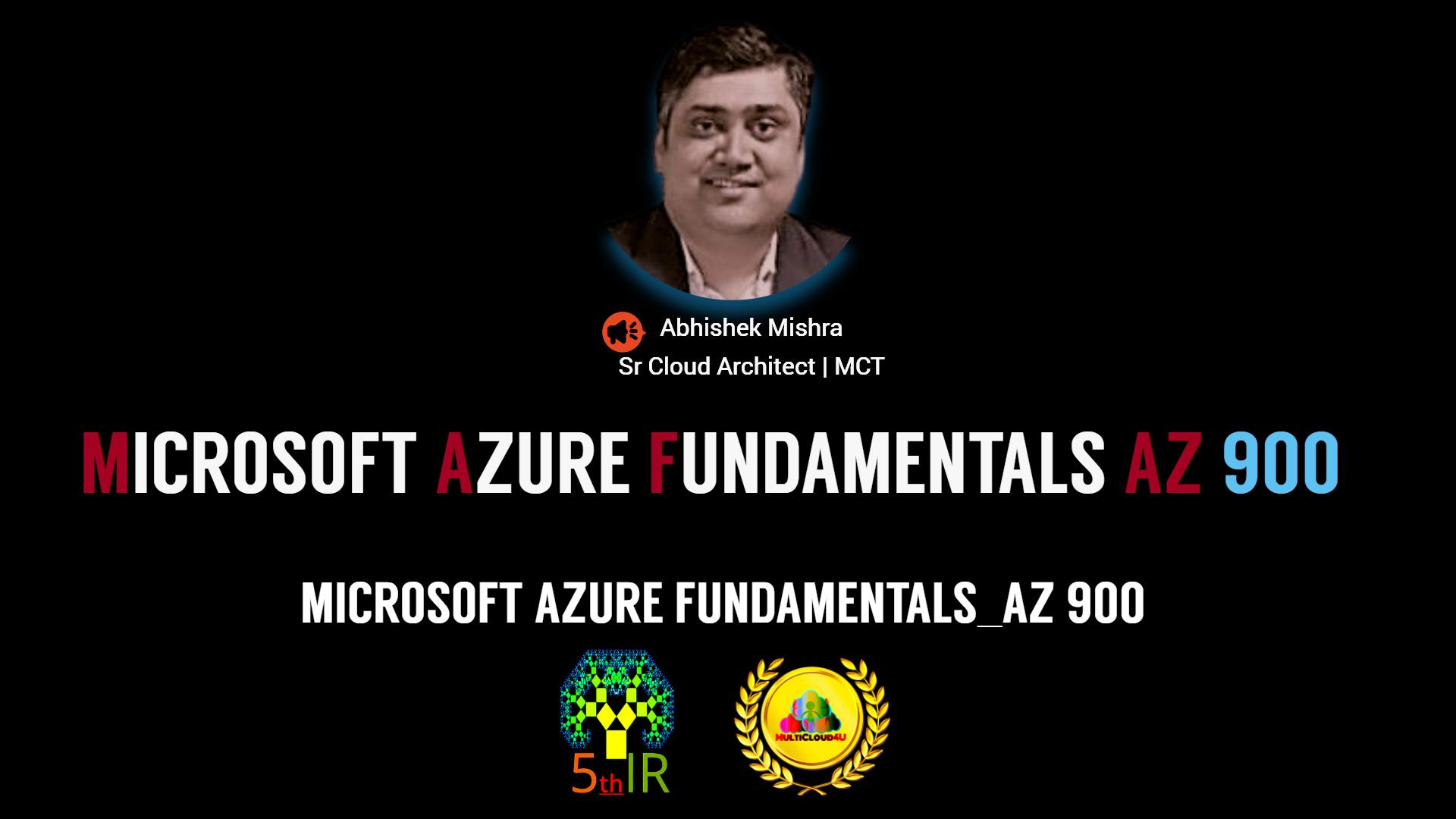 Microsoft Azure Fundamentals_AZ 900